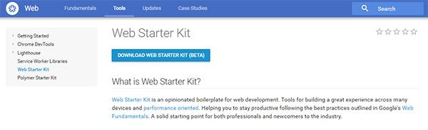 ابزار توسعه وب سایت گوگل