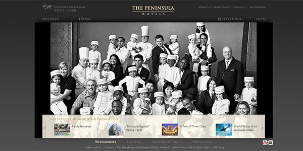 طراحی سایت هتل Peninsula