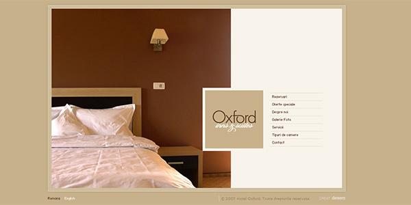 طراحی سایت هتل Oxford