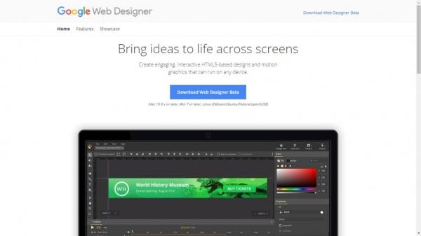 طراحی سایت Google Web Designer