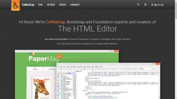 طراحی سایت Coffee Cup