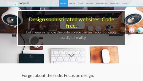 نرم افزار طراحی سایت Freeway