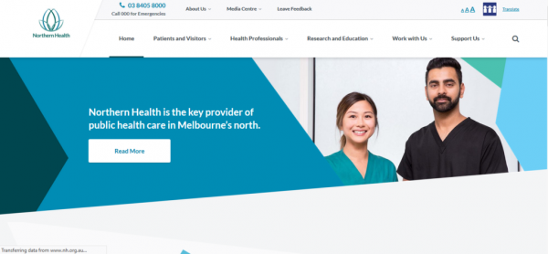 سایت Northern Health