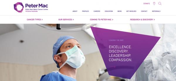 سایت پزشکی Peter MacCallum