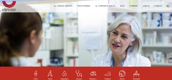 طراحی سایت بیمارستان Elevate