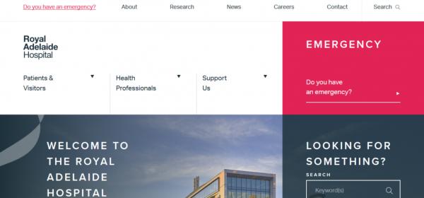 سایت بیمارستان Royal Adelaide
