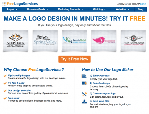 طراحي لوگو Free Logo Services