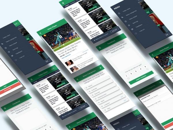 طراحی اپلیکیشن موبایل خبری