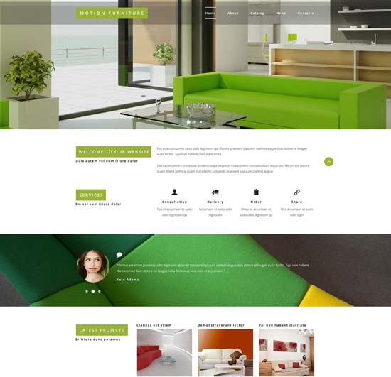 طراحی سایت محصولات دکوراسیون