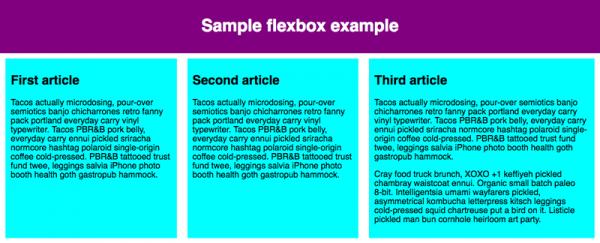 flex در طراحی وب