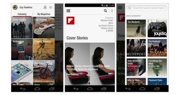 اپلیکیشن خبری Flipboard حرفه ای