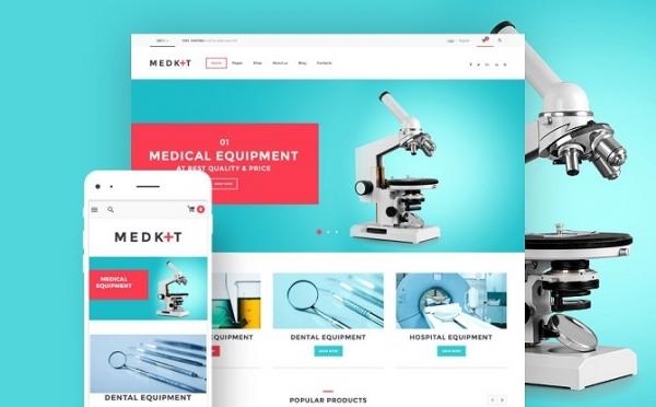 طراحی وب سایت تجهیزات پزشکی
