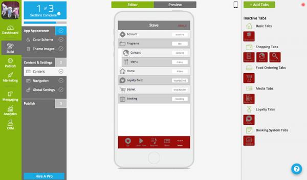برنامه ساخت اپ با AppInstitute
