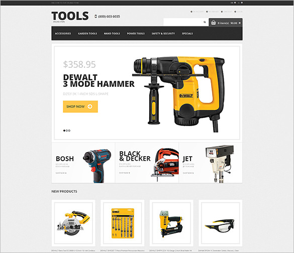 طراحی فروشگاه ابزار و یراق